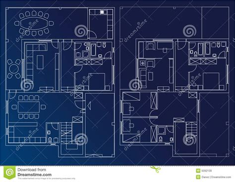 blueprint for houses blueprint home stock illustration image of home