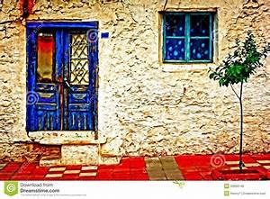 peinture de digital d39une maison turque de village With peinture d une maison