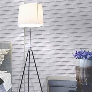 Papier Peint Photo : papier peint intiss 3d origami blanc leroy merlin ~ Melissatoandfro.com Idées de Décoration