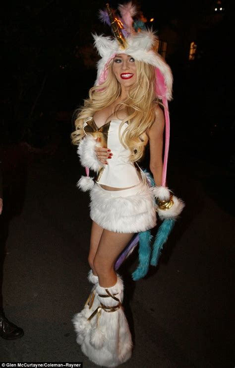 Halloween 2012 Courtney Stodden shows her wild side in tiny unicorn costume | Daily Mail Online