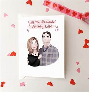 Ross and Rachel Valentine's Day Card, Friends TV Show ...