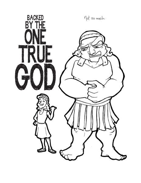 david  goliath coloring page childrens ministry deals