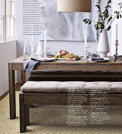 west elm bench table west elm boerum dining table and bench home goods