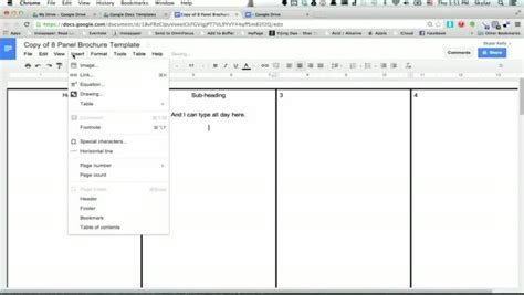 how to create a template in docs brochure templates docs beepmunk