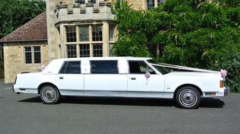 Lincoln Hire Car by White American Lincoln Town Limousine Wedding Hire