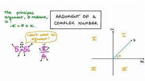 Lesson Video  Argument Of A Complex Number