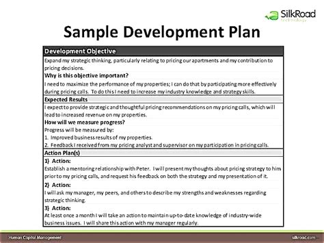 Individual Development Plan For Employees