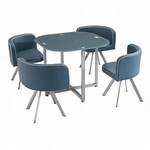Ensemble Table Repas Kelly 4 Chaises Grises Achat