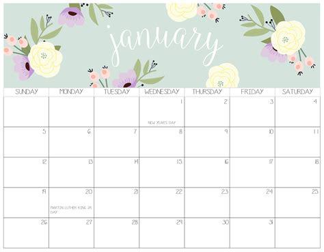 cute january  calendar  kids  calendars