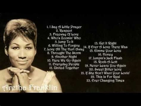 aretha franklin respect the best of aretha franklin 23 greatest hits album best songs