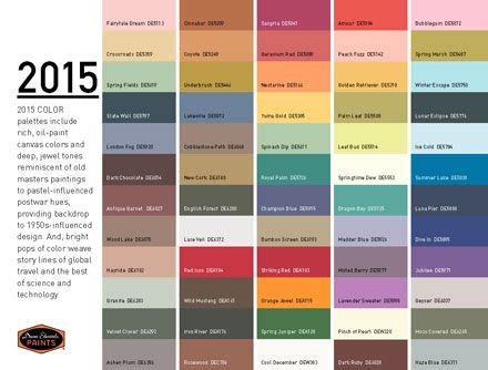 paint color palettes 2015 5 trendy paint palettes expanding home design in 2015