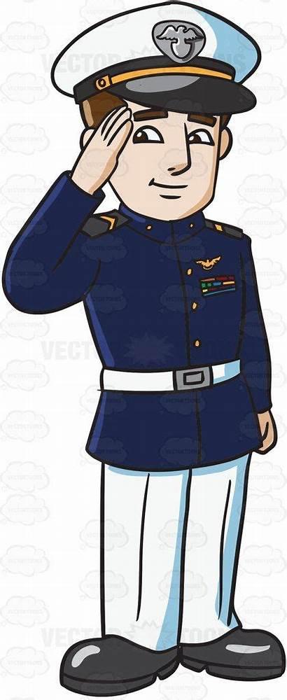 Navy Formal Cartoon Outfit Clipart Uniform Cap