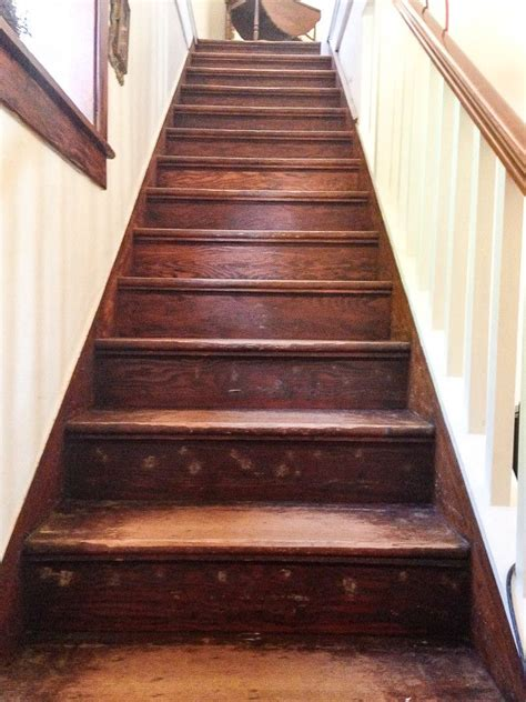 refinish  wood stairs staircase makeover