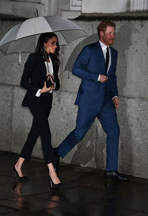 Meghan Markle Wows In Alexander Mcqueen Tuxedo At