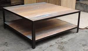 Table Fer Bois : table basse fer et bois ~ Teatrodelosmanantiales.com Idées de Décoration