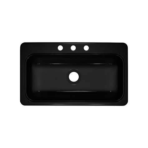 19 x 33 black kitchen sink shop lyons style sb 19 in x 33 in black single basin