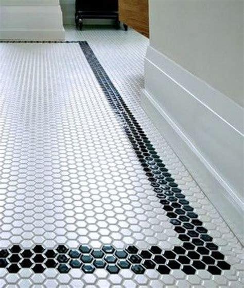 Mosaic Border Tiles Bathrooms by Black Border Mosaic Tiles For The Bathroom Floor Floors