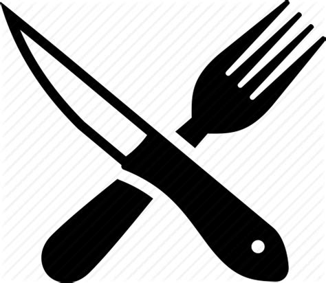 fork and knife clipart black and white barbecue icons by marc brown
