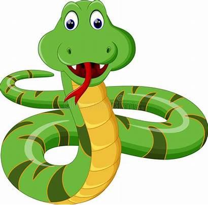 Snake Cartoon Film Fumetto Sveglio Illustrazione Nette
