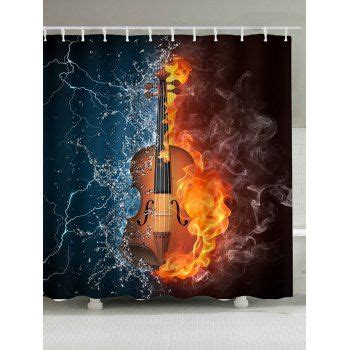 Play fire and water tabs using simple video lessons Fire Water Guitar Print Shower Curtain | Violin, Music ...