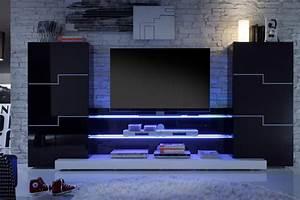 Meuble Tv Mural Pas Cher : meuble tv led pas cher lertloy com ~ Dailycaller-alerts.com Idées de Décoration