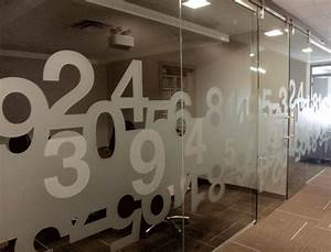 Numbers. Graphic window film for the office http://bit.ly ...