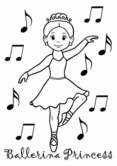 Coloring Pages Ballerina Princess Dance Ballet Colouring