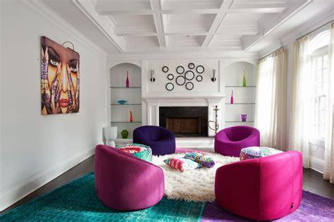 10 Modern Bold Living Room Colours Schemes Design Ideas