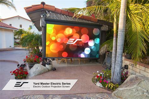 diy backyard  projector screen yard master