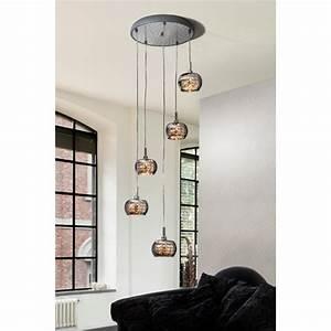 Luminaire Suspension Pendante Design 5 Lampes