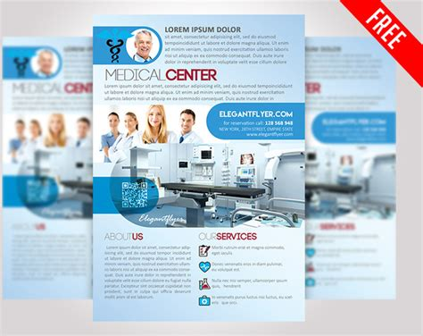 healthcare brochure templates free download medical center free psd flyer template free psd in