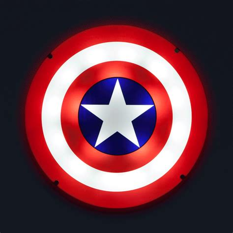 captain america shield light up wall art with sound thinkgeek