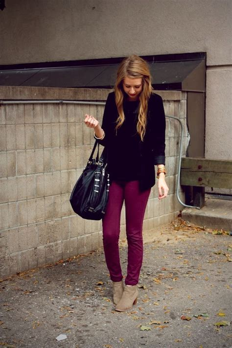 images  maroon jeans  pinterest