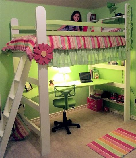 diy loft bed with desk diy loft bed with desk woodworking projects plans