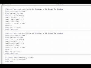How To Basic : visual basic simple string encryption decryption in 24 lines youtube ~ Buech-reservation.com Haus und Dekorationen