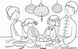 Coloring Feast Chinese Printable sketch template