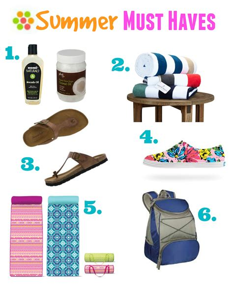 summer must haves summer must haves the essentials