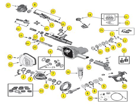 30 front axle parts for wrangler yj jeep yj