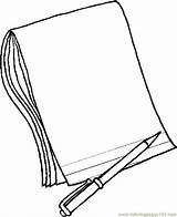 Coloring Notebook Pages Pencil Paper Printable Clipart sketch template
