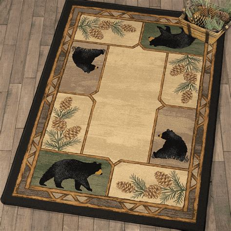 mellow mornings black bear rug