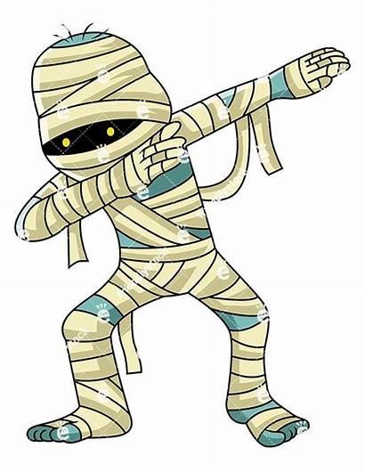 Mummy Clipart Egyptian Cartoon Dabbing Mummies Zombie