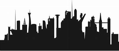 Silhouette Skyline York Cityscape Clipart Getdrawings