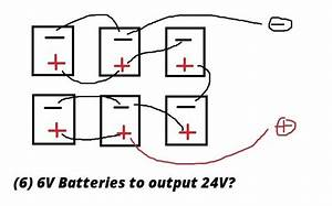 6 6v batteries to make 24v physics forums With wiring 4 6v batteries in series