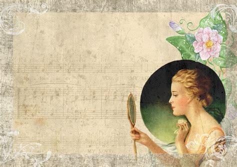 vintage lady mirror  image  pixabay