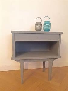 Table De Chevet Pas Cher : table de chevet vintage pieds compas pas cher luckyfind ~ Teatrodelosmanantiales.com Idées de Décoration