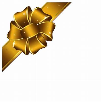 Ribbon Gold Christmas Transparent Clip Clipart Bow