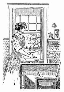 Free Vintage Image Woman Cooking Clip Art | Old Design ...