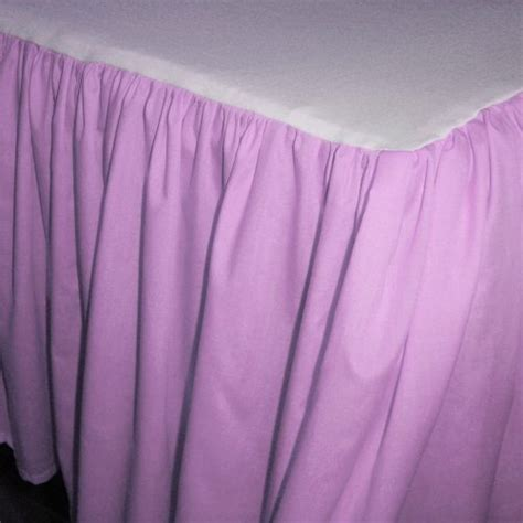 Solid Violet Purple Colored Bedskirt (in all sizes from