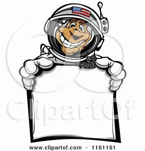 Cartoon Clipart of an Excited White Astronaut Boy Floating ...