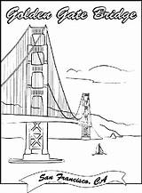 Pages Bridge Coloring Gate Golden Printable Crayola Colouring Drawing Landmarks Sheets San Francisco Famous Adult Books Garden Hang Construction Puente sketch template